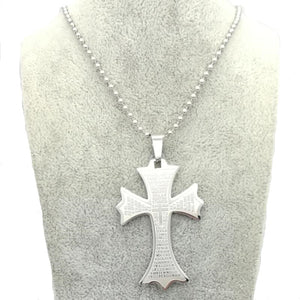 Cross Necklace Vintage Pendant Christian Jewelry Stainless Steel 2017 Pendant Necklace
