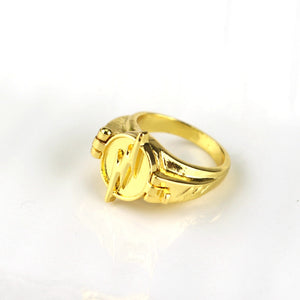 The Flash Ring for Women / Men gold color.