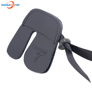 Double Layer Archery Finger Guard Protection Pad Glove Tab with Durable Leather for Bow Hunting Shooting Sports Finger Protector