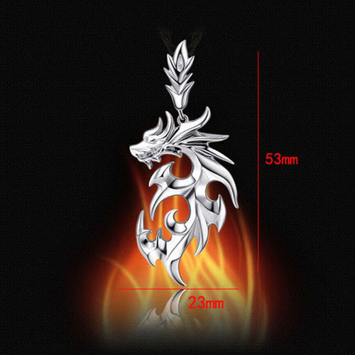 Dragon Face Sign of power. Necklace, Pendant, New Fashion Silver Color Jewelry