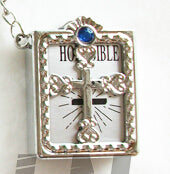 English Version Mini Christian Cross / Bible Key chain / Holder