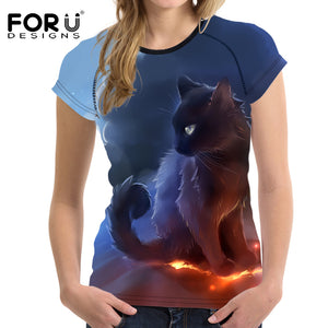 T shirt 3D Cute Cat Printed T-shirt 2017 New Arrival  S-XXL