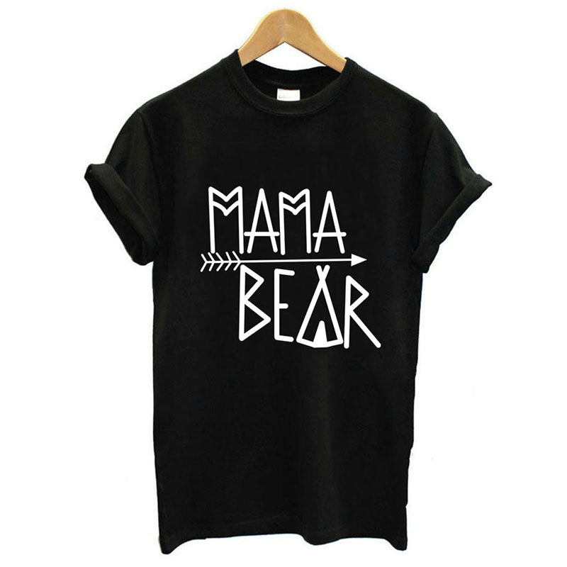 Family Outfit T-Shirt Papa Mama Baby Bear Printed Tees Tops Family Matching Clothes Mother Father Baby T-shirt