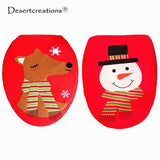 Toilet Seat Cover Bathroom Decoration Christmas Elk / Snowman Decor