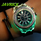 Fashion Watch LED Backlight Crystal Quartz Wrist Watch Sport Waterproof watch