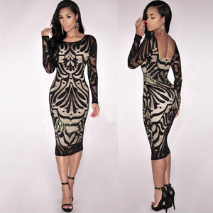Spring Autumn Bodycon Long Sleeve Dress / Party / Evening Dress Size 6 - 12