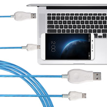 Flowing LED Glow Micro USB Charging Data Sync Cable For Samsung, Huawei, Xiaomi, HTC, Lenovo, Sony, LG, Android Mobile Phones