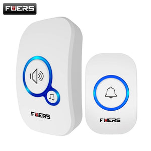 Home Wireless Doorbell. Chime / Alarm with 32 Songs Smart Doorbell EU UK US Plug Cordless with Waterproof Button