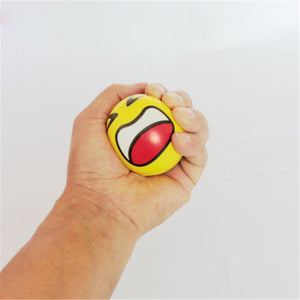 Emoji Face Squeeze Ball Stress Reliever. Hand Grips Wrist Exercise / Muscle Power Training