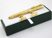 Golden Dragon Red Crystal Eyes Rollerball Pen  and Cufflinks