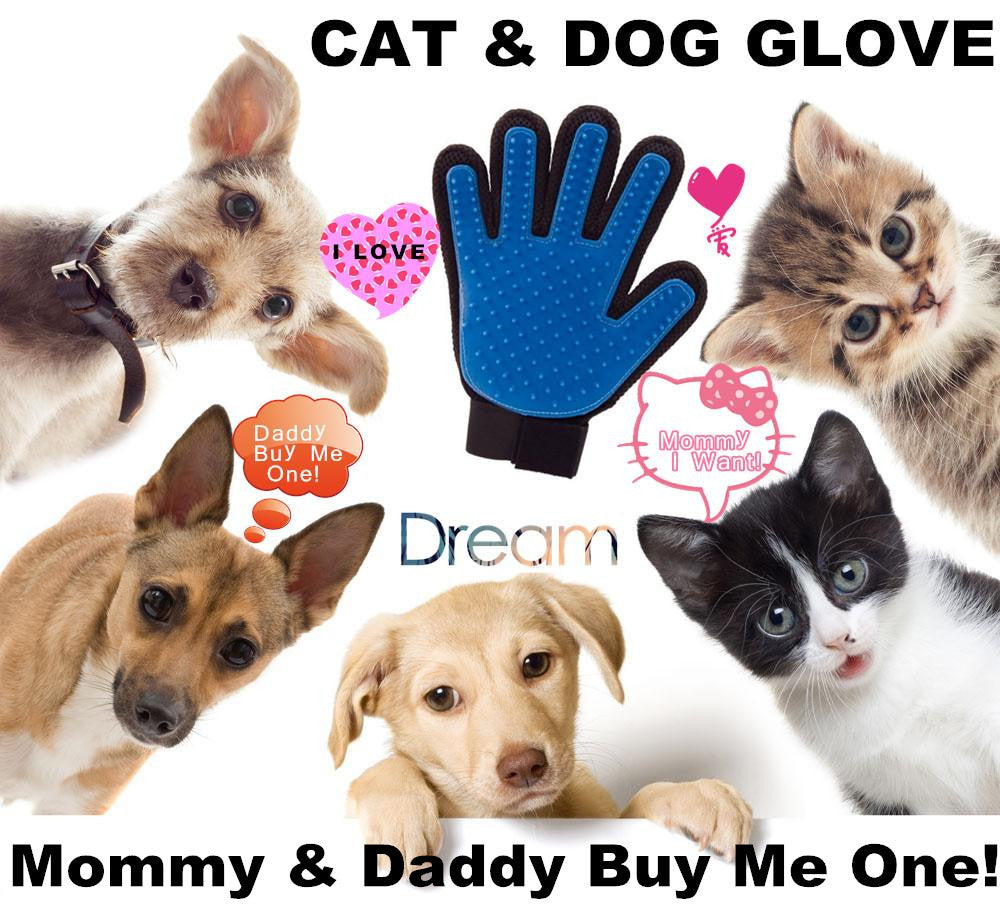 Grooming Glove, Bath Massage Comb / Brush Hair Remover