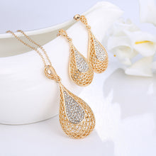 New Arrival Women Jewelry Sets. Classic Water Drop Crystal Pendant, Necklace, Earring, Jewelry Set