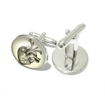 Heart Personalized cufflink men accessories