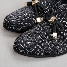 Fringe Rivets Rhinestone Luxurious Shoes with Butterfly Bow Casual Shoes Handmade Tassel Party Wedding Leather shoes