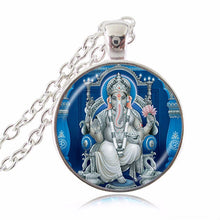 Lord Ganesh Ganesha Necklace God of Fortune Pendant Hindu Necklace Meditation Spiritual Jewelry