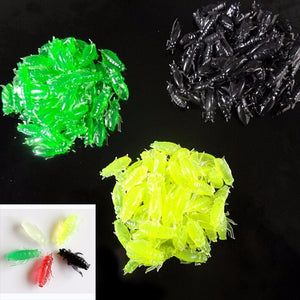 New 10 Pcs Artificial Silicone Soft Cricket Insect Shape Pesca Fish Bait Fishing Lure Color Random