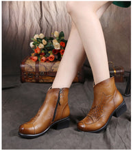 High Quality Handmade Women Shoes Genuine Leather Women Boots Martins Winter Vintage Ankle Boots