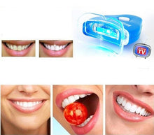 White Light Tooth Whitening Gel. Professional Dental White Tooth Brightening Tooth Bleaching with Whitening Lamp