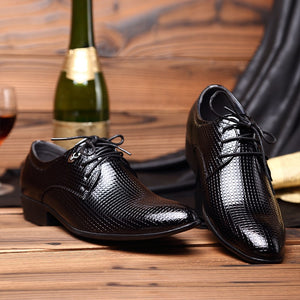 New Fashion Men's Lace-Up Oxfords Dress Shoes Mens PU Leather Business / Office /  Wedding Man / Party Shoes