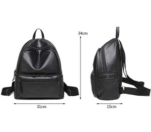 Latest Women Backpack PU Leather School Bag for Students. High Quality Vintage Backpack Travel Bag