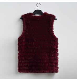 The new women fashion warm fur vests rabbit hair fur coat, thin and warm with a variety of colors
