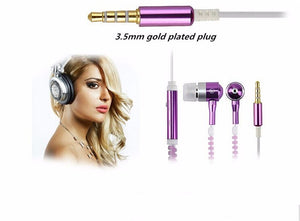 Fashion Metal Zipper Light Headphones, luminous Earphone Glow In The Dark Earphones With Mic