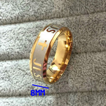 High Quality Plated 316L Stainless Steel Ring For Men / Woman Jesus, Cross Religious Jewelry