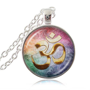 Om Hindu Necklace Pendant, Jewelry Hinduism Symbol Pendant Meditation Hindu Necklace