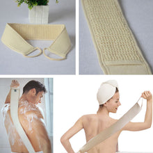 Unisex Natural Loofah Bath Back Strap Body Scrubber / Brush Sponge. Massage or Spa Scrubber Sponge for body wash