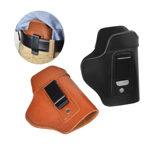 Hand Gun Genuine Leather Holster Universal Pistol Case With Metal Clip For Glock 17 19 22 23 43