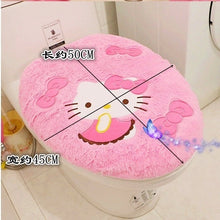 Hello Kitty toilet seat cover set