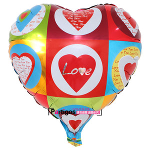 High Quality 10 pcs / lot 18'' I LOVE YOU Balloon. Valentines day / Wedding Decorations / party supplies, Heart shape balloons