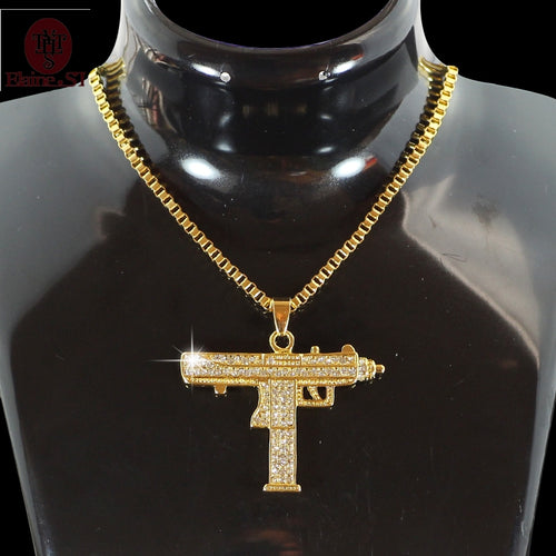 Gold Chain Necklace UZI Necklace Jewelry