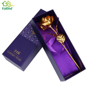 Home decoration flowers Valentine's Day Gift 24K Gold Plated Rose Flower. Romantic Events.