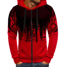 Hoodie Men Sweatshirt Zipper Gradient Color Pullover Long Sleeve Hooded Sweatshirt Tops Male Tracksuits Sportswear Sweatshirt