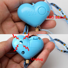 Cute Heart Shaped Personal Travel Protection Outdoor Security Guard Alarm Bell. Avoid Attack
