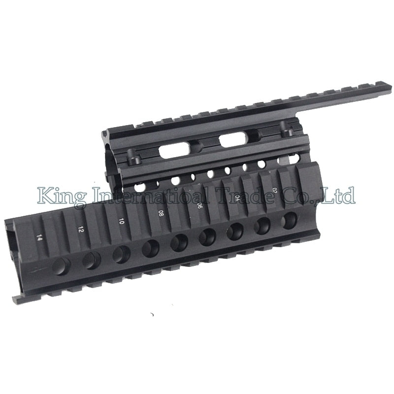 Hunting Rifle Accessories Tactical Quad Rail Scope Mount Hand guard Rail 12 pcs Picatinny Covers.