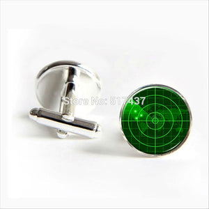 Radar Screen Cufflinks Navy Ship Radar Cufflinks High Quality