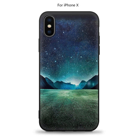 Soft Silicon Phone Cover For iPhone X