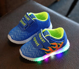 Kids Shoes 2017 New Fashion Children Shoes With Light Luminous Glowing Sneakers Baby Toddler Boys Girls Footwear LED EU 21-30