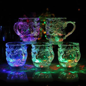 LED Flashing Dragon Cup, Changes color Water Activated Light Up Dragon Mug