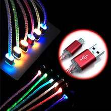 LED Light Micro USB Charger Cable Charging Cord For Samsung S7 S6 LG G4 G3 / Android Phone.