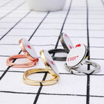 Luxury Metal Finger Ring Holder Smartphone Mobile Phone Finger Stand