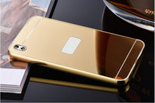 Luxury Metallic Look Mirror Phone Case For HTC M8 M9 M10 A9 E9 Plus