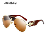 Luxury Women / Men Skull Sunglasses Medusa Brand Designer Retro Glasses. Vintage Oculos Ladies UV400 Lion Sun Glasses