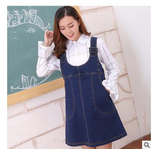 Maternitry Pregnant Women Denim Dress