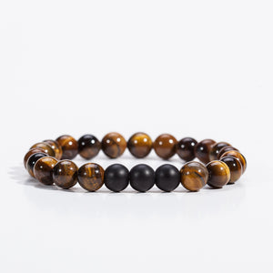 Natural Lava Bracelet for Health and Relaxing mind. Jewelry Classic Black Beaded Bracelets 4 Colors for Choose from