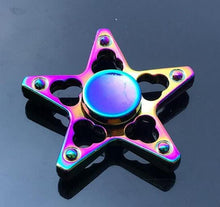 Metal Fidget Spinner Muti Color Hybrid Bearing for maximum spin.