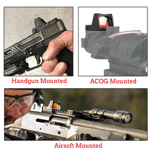 Mini RMR Red Dot Sight Collimator Scope Reflex Sight Scope With Glock Universal Mount Airsoft Gun / Hunting Rifle Optical