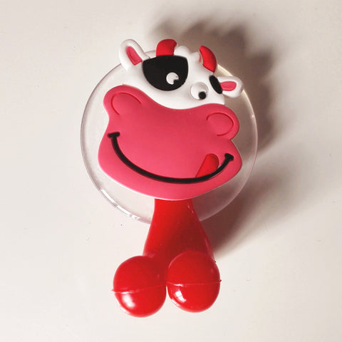 Multi functional Cute Cartoon Animal suction cup Toothbrush Holder 24 Colors